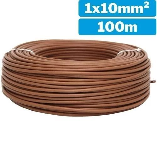 Cable eléctrico unifilar 1x10mm 100m marrón