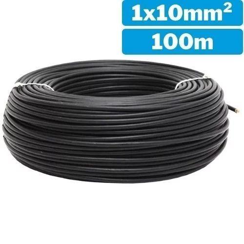 Cable eléctrico unifilar 1x10mm 100m negro