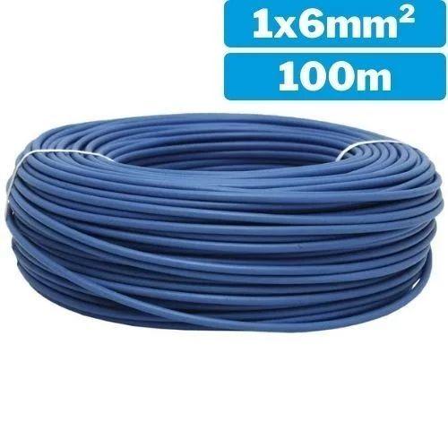 Cable eléctrico unifilar 1x6mm 100m azul