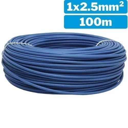 Cable eléctrico unifilar 1x2.5mm 100m azul