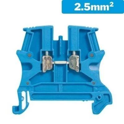 Borna de conexión 2.5mm2 poliamida azul
