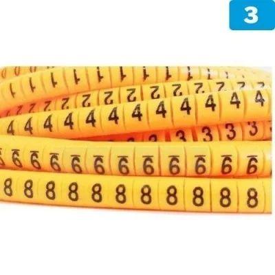 "Señalizador ""3"" para cables de 1.5 a 2.5mm2 (100 unidades)"