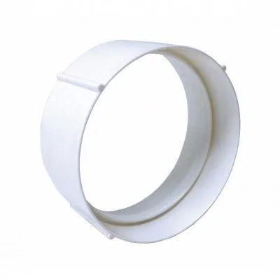 Manguito unión para tubo circular PVC 100 mm, conductos de extracción y ventilación