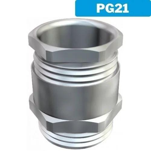 Racor prensaestopas metálico PG21 (Para manguera)