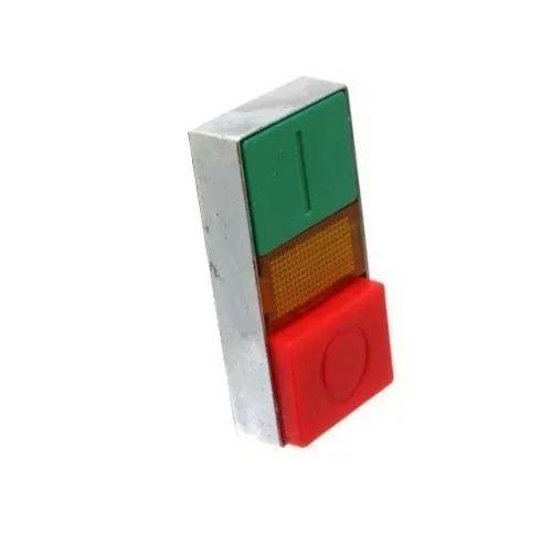Cabeza de pulsador doble verde/rojo 22mm