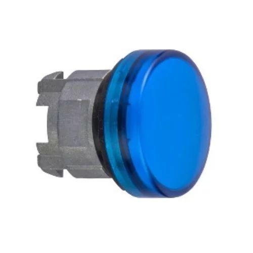 Cabeza de piloto azul 22mm
