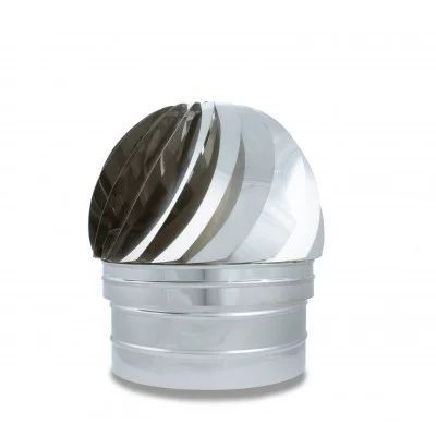 Sombrerete Aspirador en acero inoxidable -Serie Lisa - Serie Helicoidal