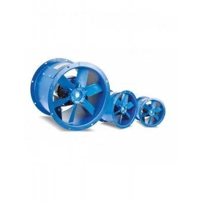 Ventiladors helicals tubulars equipats amb hèlix de plàstic o alumini i dues brides