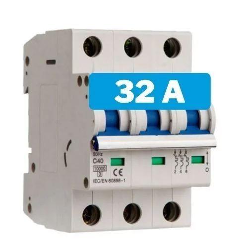 Interruptor magnetotérmico 32A 3 polos