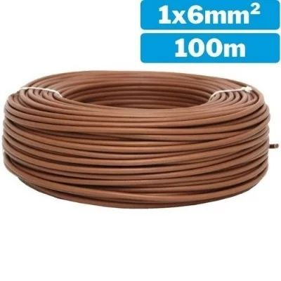 Cable eléctrico unifilar H07Z1-K 1x6mm 100m marrón