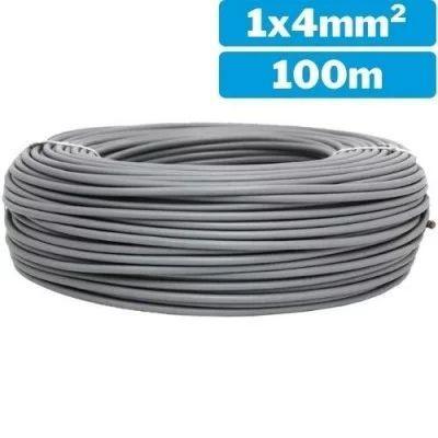 Cable eléctrico  unifilar H07Z1-K 1x4mm 100m gris